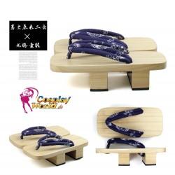 Japanische Gata Zori Shiraki Geta Dragon Muster Motiv figural Riemen Kimono Cosplay Herren Geta