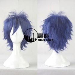 Date A Live Yoshino Hermit Bishōnen kurze blaue Cosplay Perücke Wig