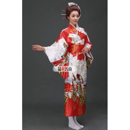Kimono Yukata Furisode Geisha Morgenmantel Bademantel